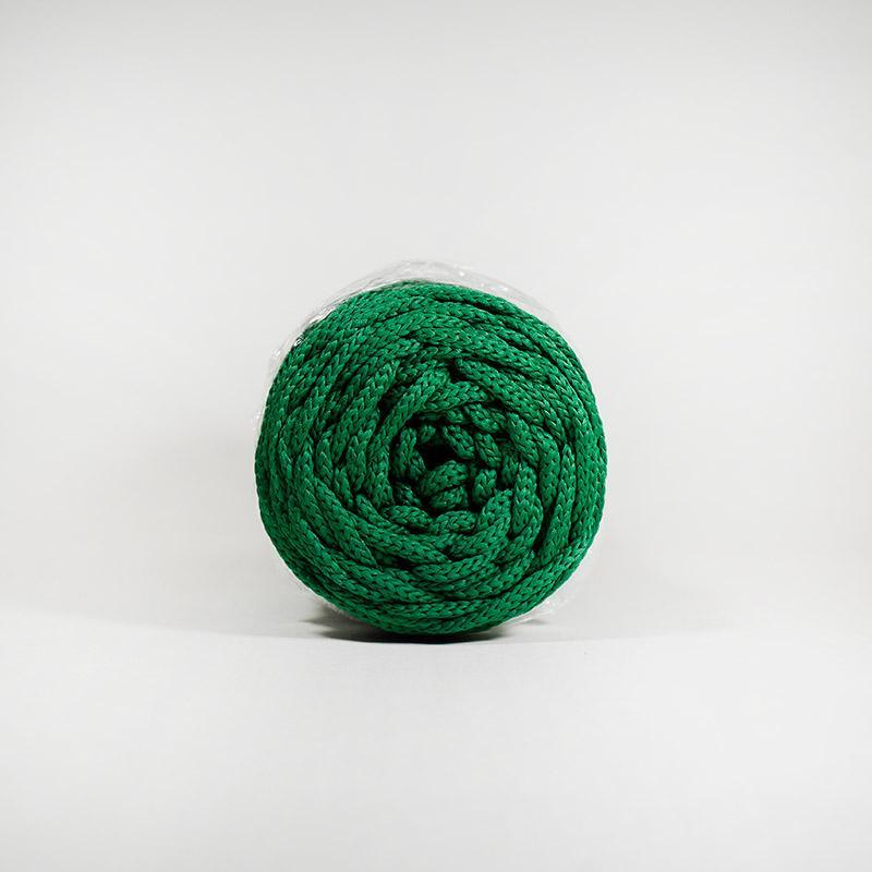 Шнур без сердечн 4мм 49 100м полиэфир т.зелен