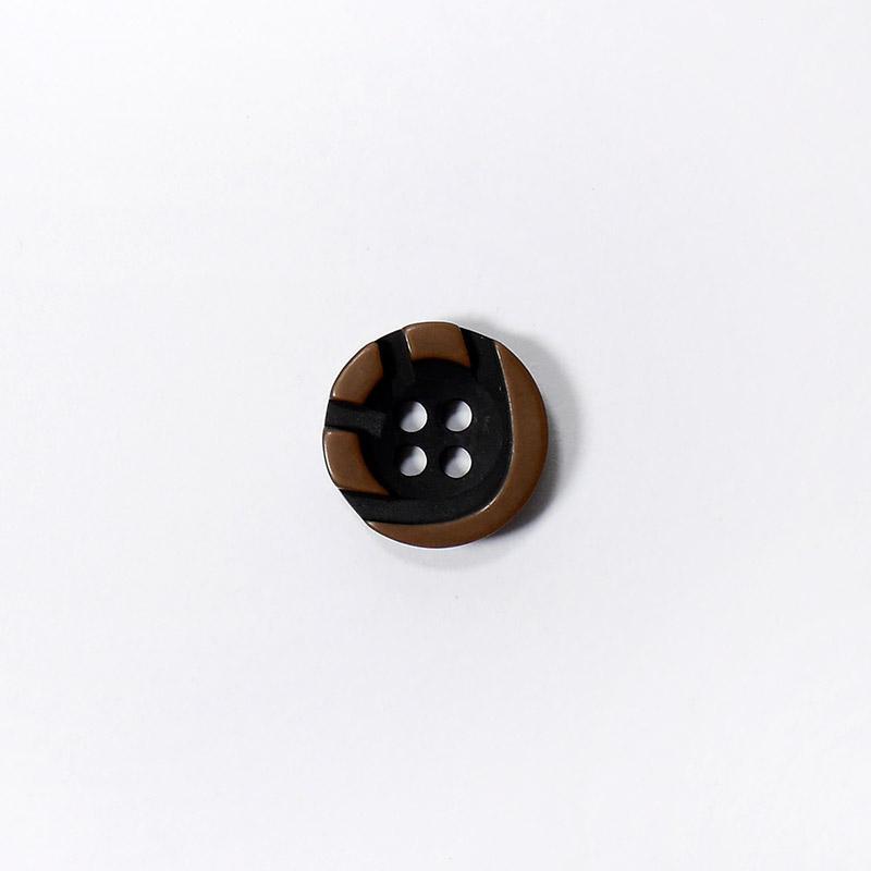 Пуговицы Рубашка 4-х пр. 13мм 432/4 коричневый/черный