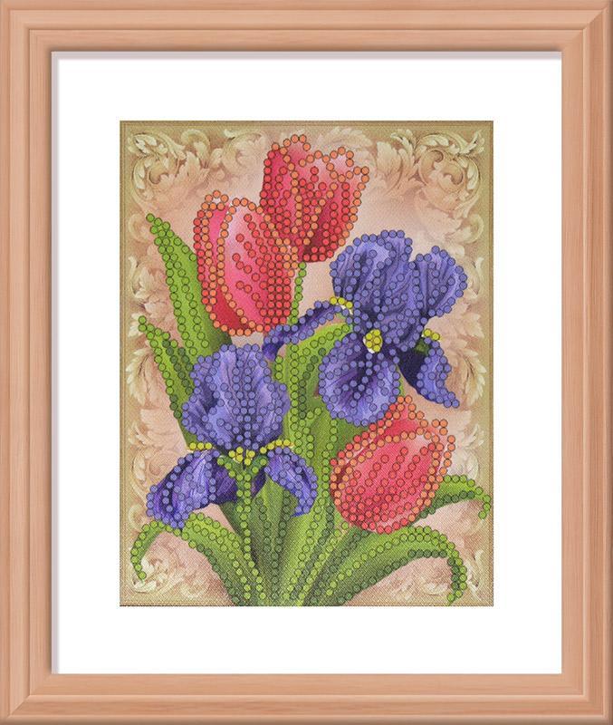 Ирисы и тюльпаны  ББ077