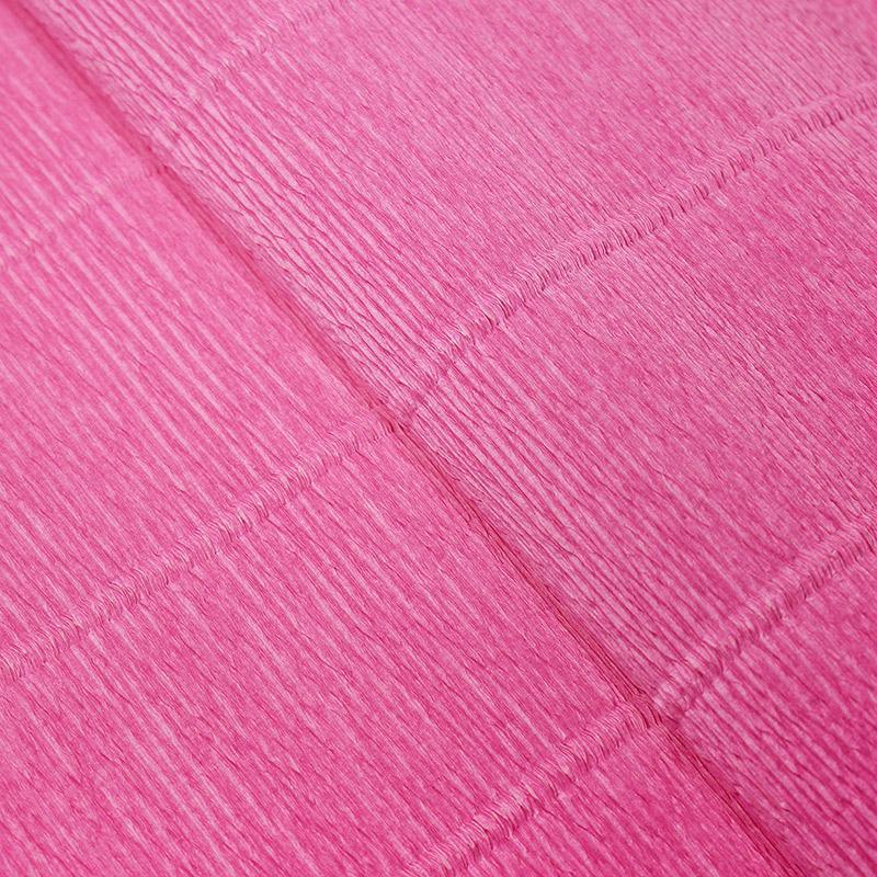 Бумага гофрированная 50см 2,5м 140г/м2 Италия 950 т.розовый