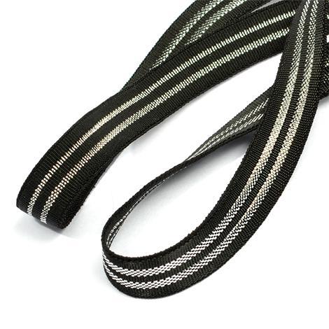Резинка окантовочная Премиум 10мм 50м EB.4S серебро/черный