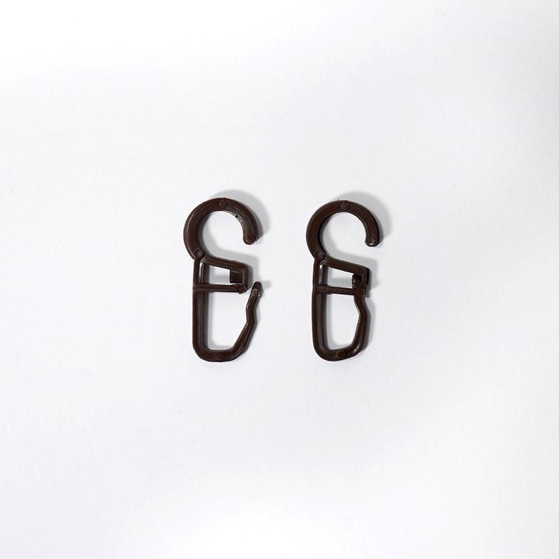 Крючки шторные №4 пластик 100шт т.коричневый