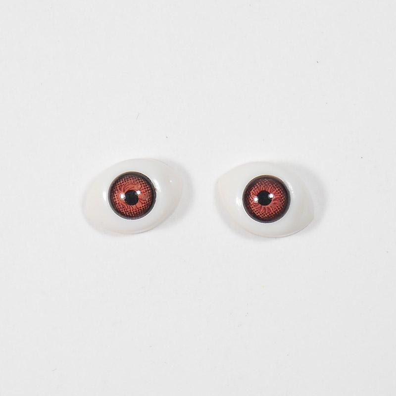 Глазки овал выпукл цв №5 11мм карие (О1)