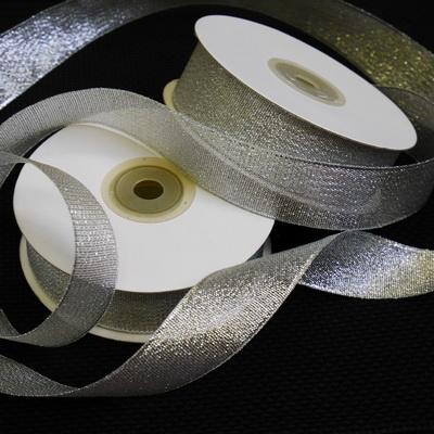 Лента металлизированная 25мм серебро 22.5м