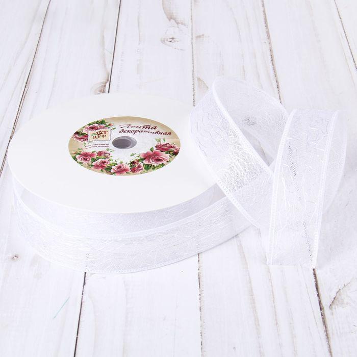 Лента декоративная Паутинка 25мм 23м белый 2276046
