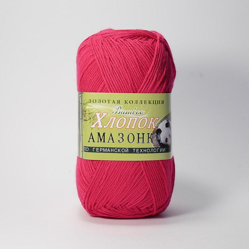 Пряжа Амазонка 117 - яр.розовый