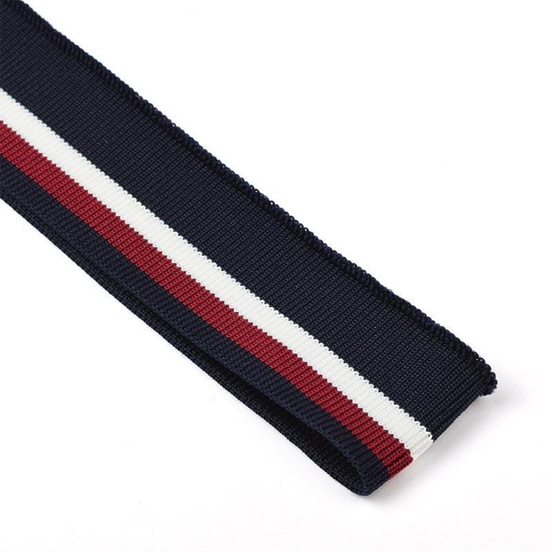 Подвяз трикотажный TBY.73019 3,5х80см  т.синий с белой и бордовой полосами