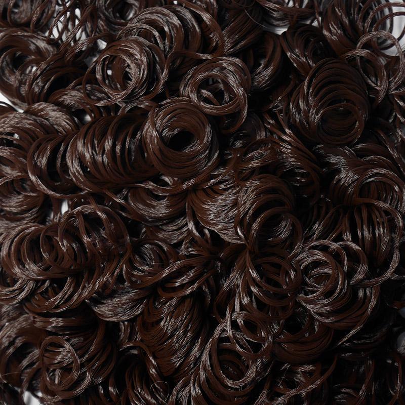 Волосы-кудри для игрушек d-2см, т.каштановый, 35гр