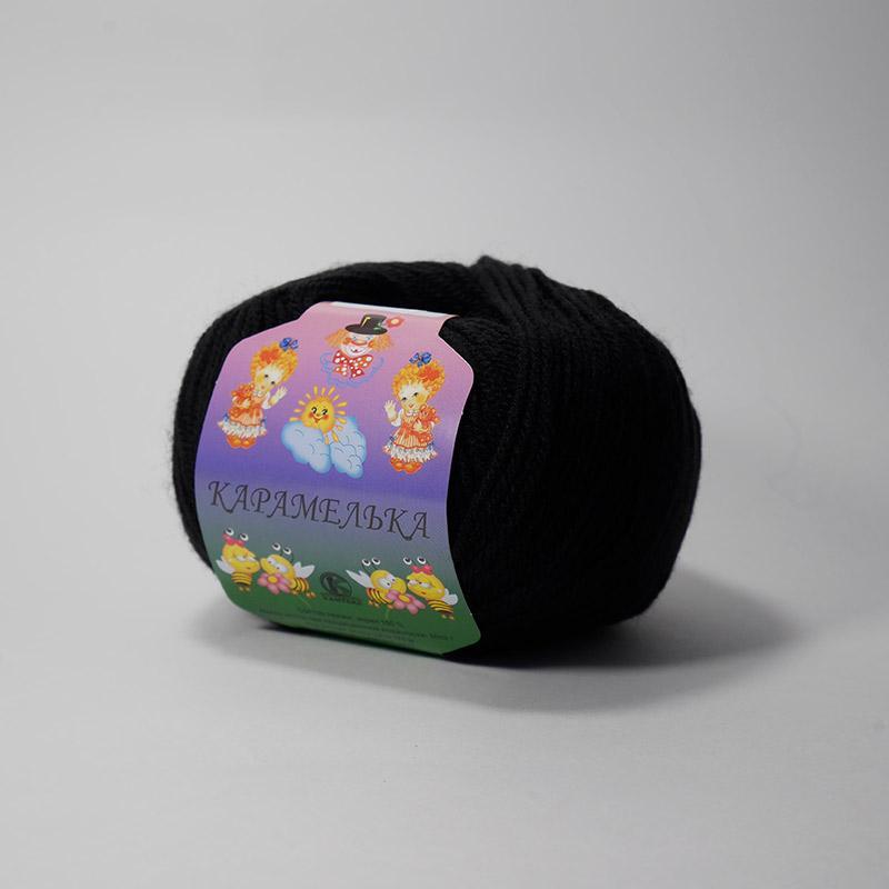 Пряжа Карамелька 003 - черный