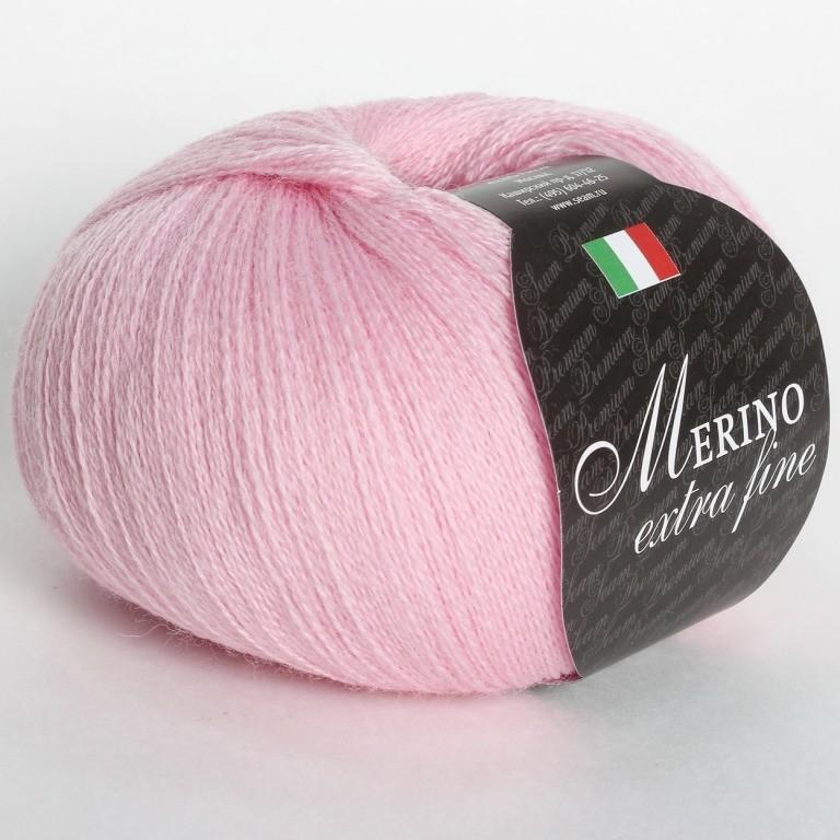 Пряжа Мерино экстра фине 33 - розовый