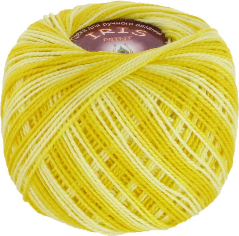 Iris print 2209 - желтый меланж