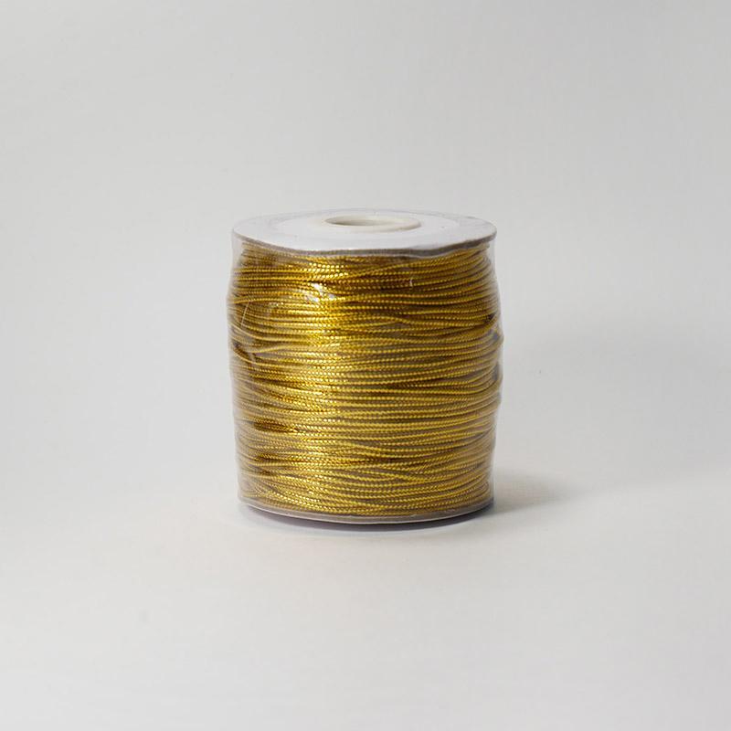 Шнур декоративный 1,5мм 100м золото