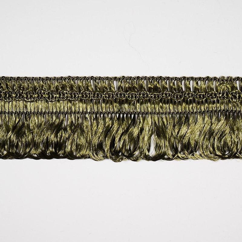Бахрома 3,0см арт F018 16м хаки 157
