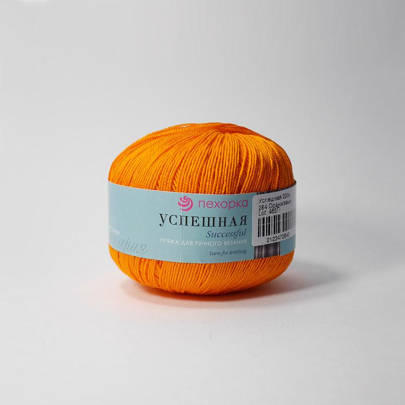 Пряжа Успешная 284 - оранжевый