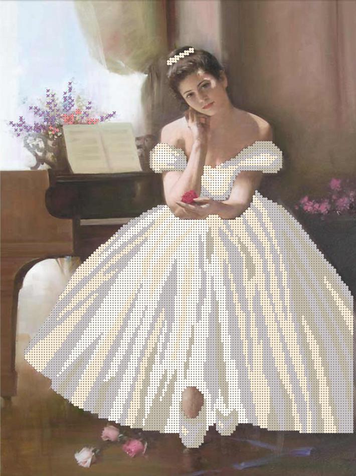 "Холст с рисунком ФББ-002 ""Балерина"""