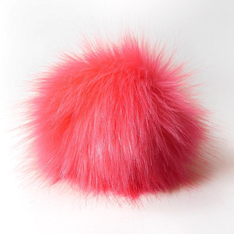 Помпон 13-15см искусственный под енота яр.розовый