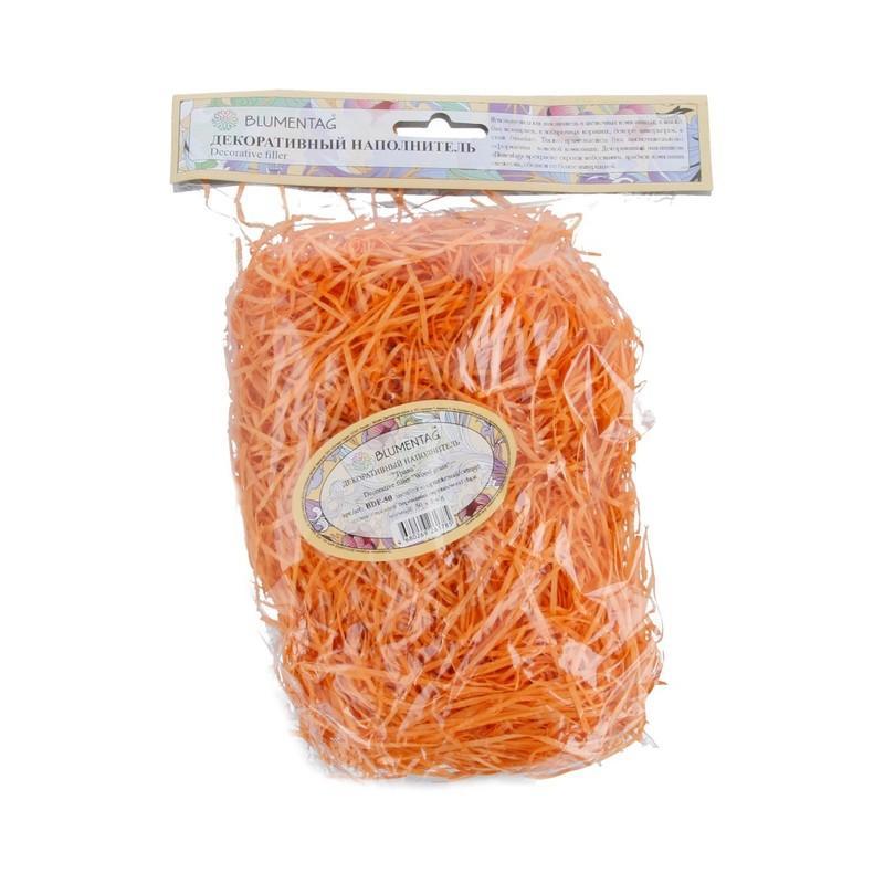 Декоративный наполнитель Трава 50г BDF-50 оранжевый
