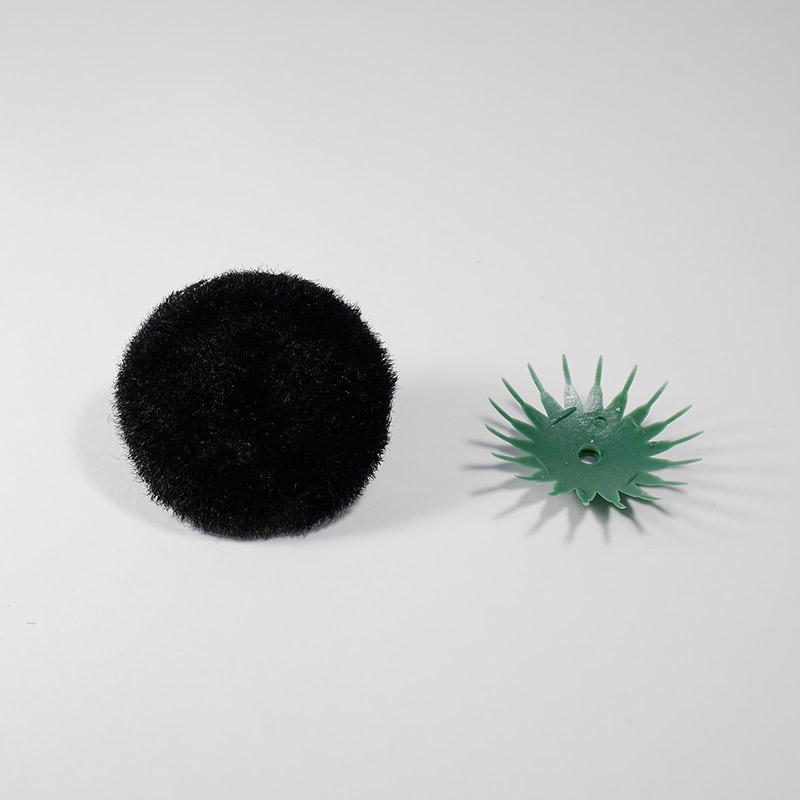 Сердцевина для цветов д-45мм черная без напыления + пластиковая основа
