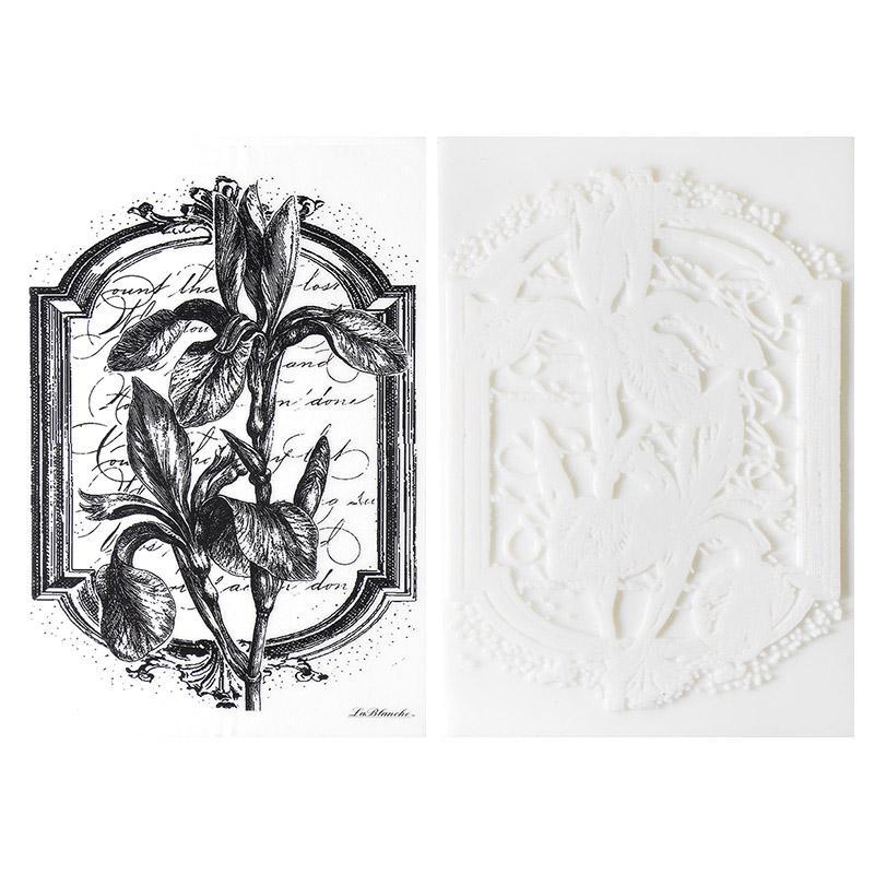 Штамп силиконовый Ирисы в рамке 1169