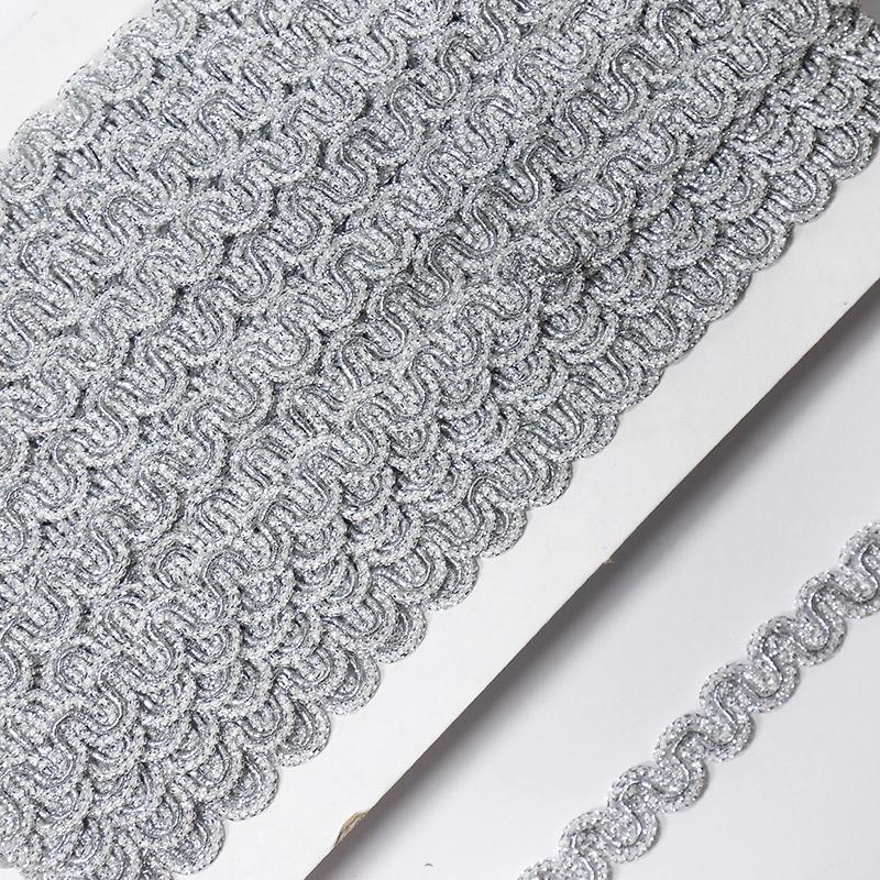 Тесьма 12мм 18.28м FX L024 серебро