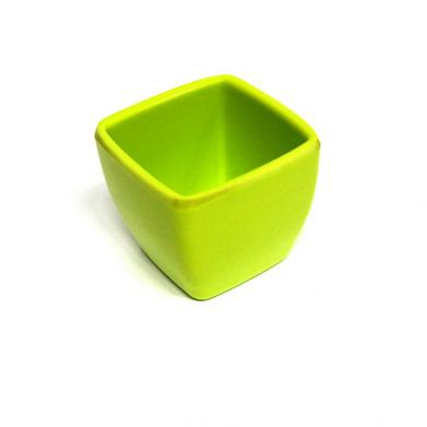 Горшочек KR03 декор.5,2х5,2см пластик зеленый 27068