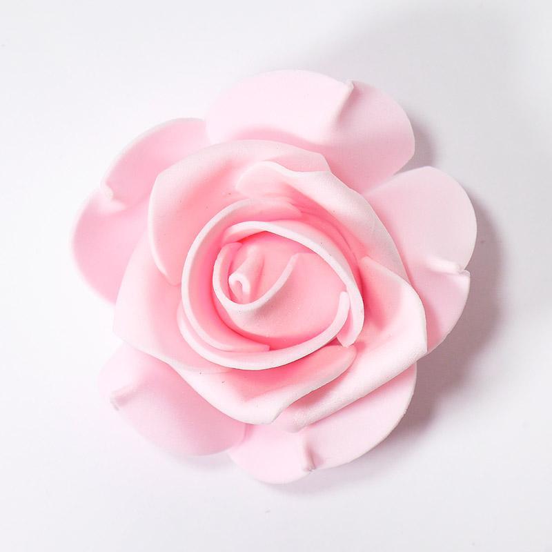 Розочка из фоамирана большая 8см св.розовый