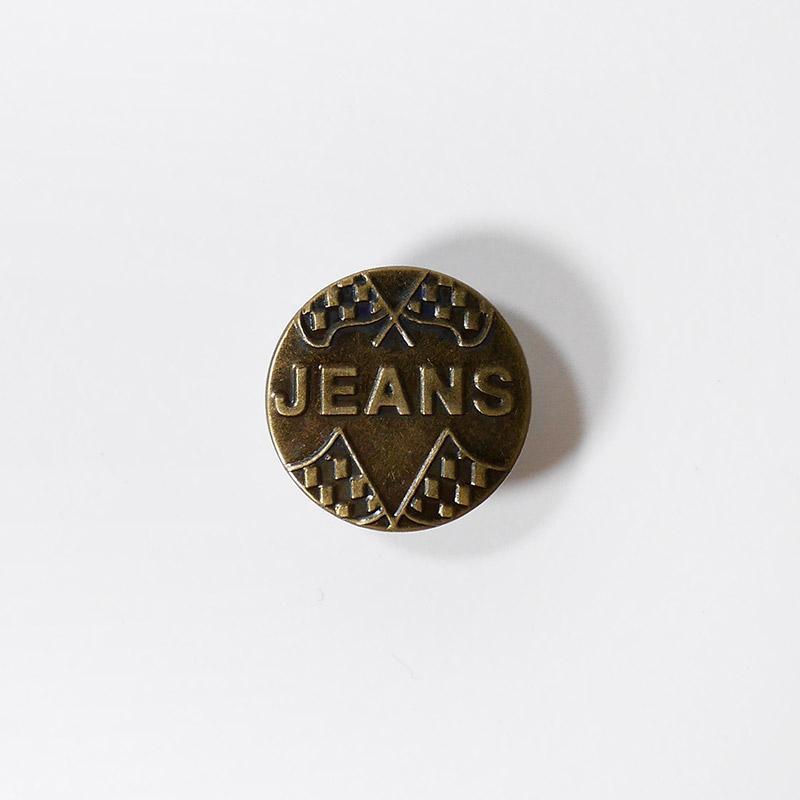 Пуговицы джинсовый 20мм JEANS, 50# бронза