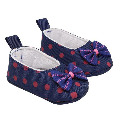 Туфли из ткани в горошек, размер по подошве 7,8см,высота 2,5см синий 505313
