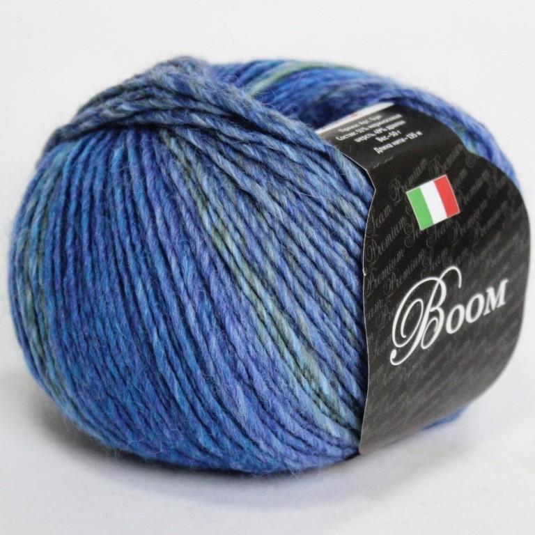 Пряжа Бум 63187 сине-фиолетовый