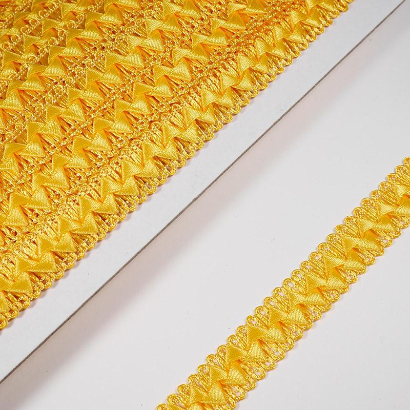 Тесьма Самоса 024  15мм 18.2м оран-желтый