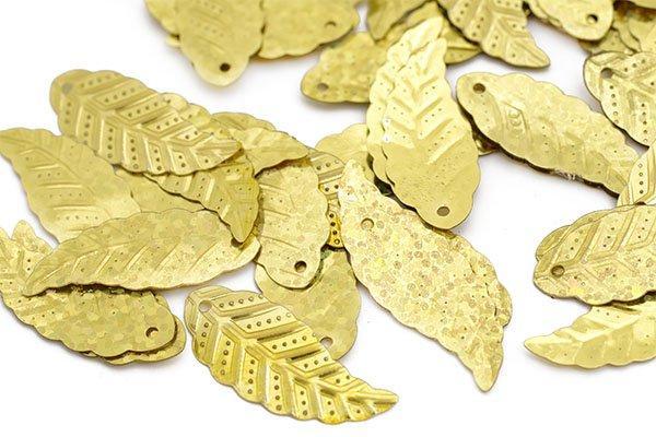 Пайетки TBY-FLK629 12х32мм 50106 золотой
