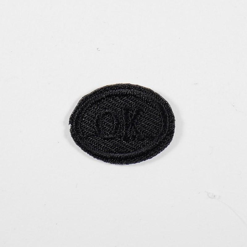Термоаппликация ОК 3х2см, овал арт 043, черный