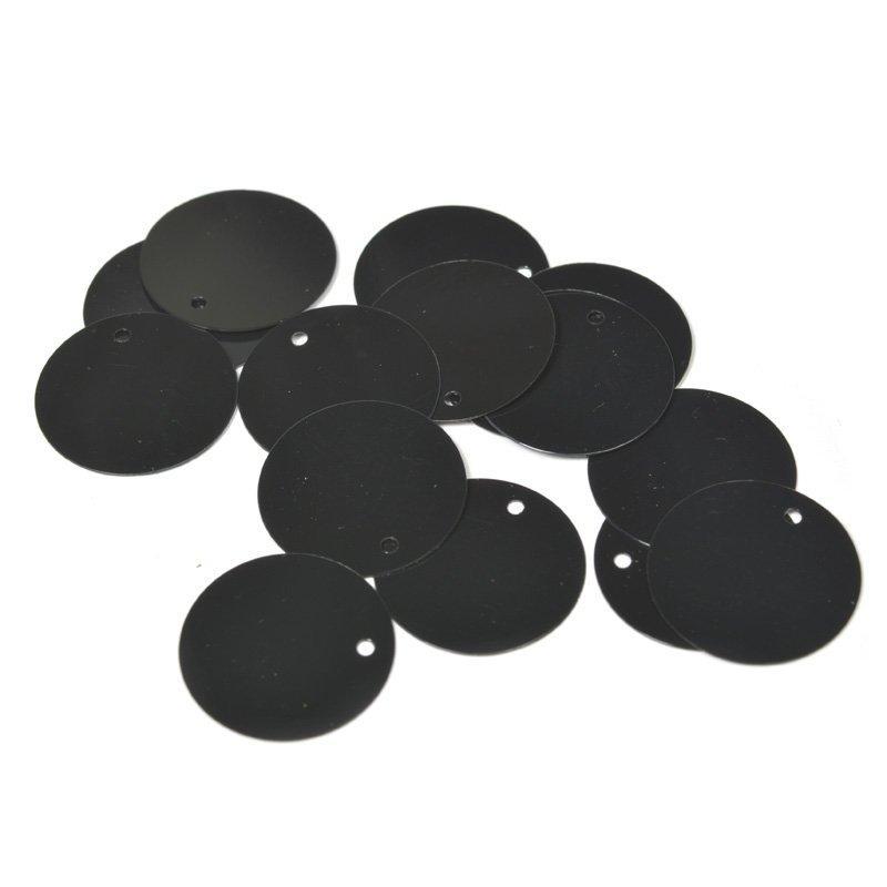 Пайетки TBY-FLK105 20мм 50гр А075 черный