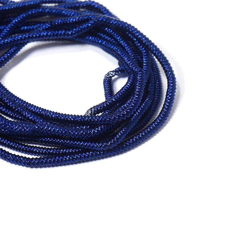 Канитель 1,5мм 4755EMBFW синяя витая жесткая 5гр