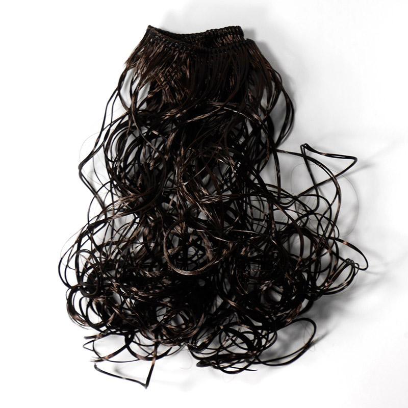 Волосы-кудри трессы h25-28см, L47-50см, т.шоколадный