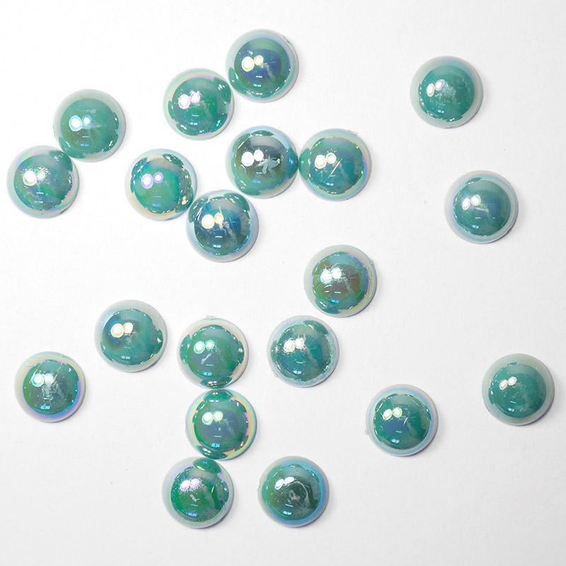 П/бусины перламутровые Круг 10мм 003 зеленый