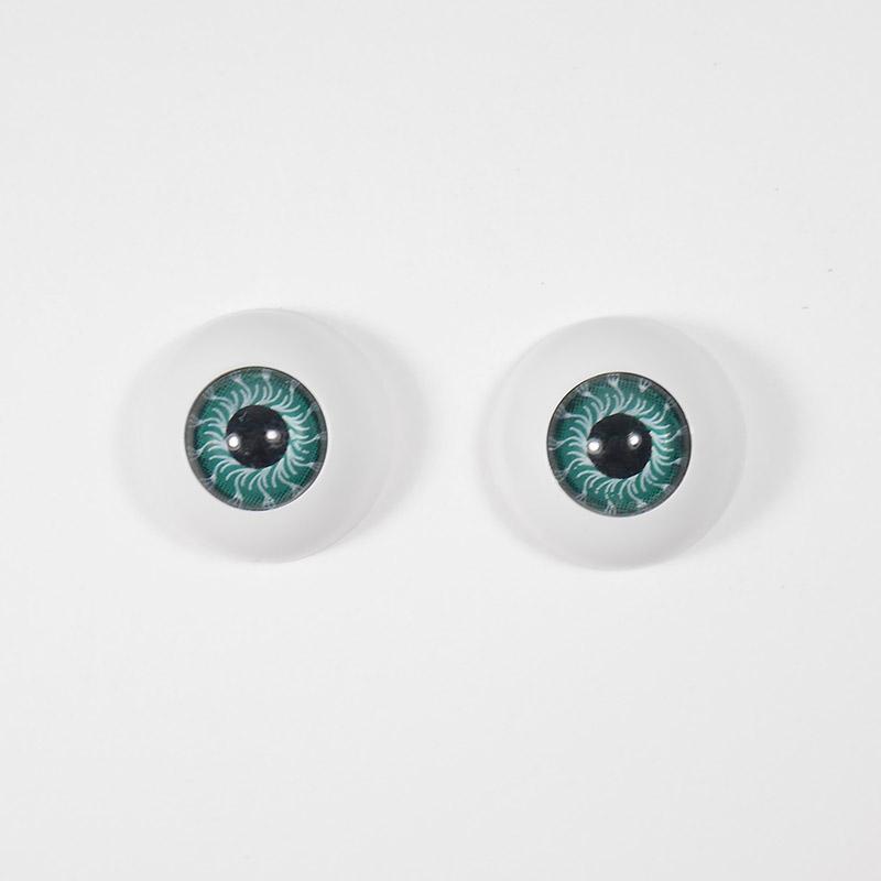 Глазки TR-20 круглые без ресниц 20мм, бирюза (О1)