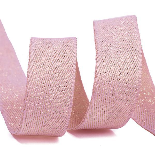 Тесьма киперная металлизированная TBYT10 16мм 22,85м S221 розовый