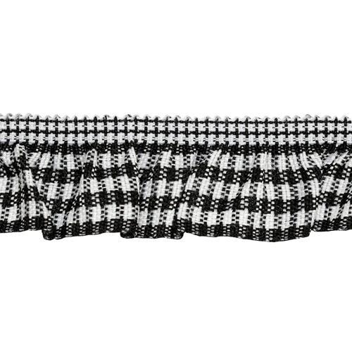 Тесьма-рюш эластичная двухсторонняя 20мм 22.86м черный 7723686