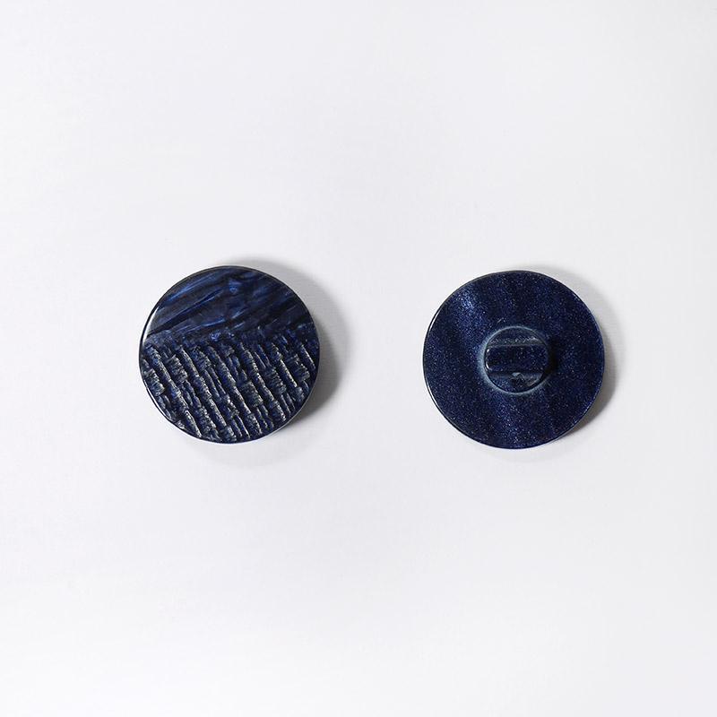 Пуговицы костюмные К-44 круг 30мм т.синие