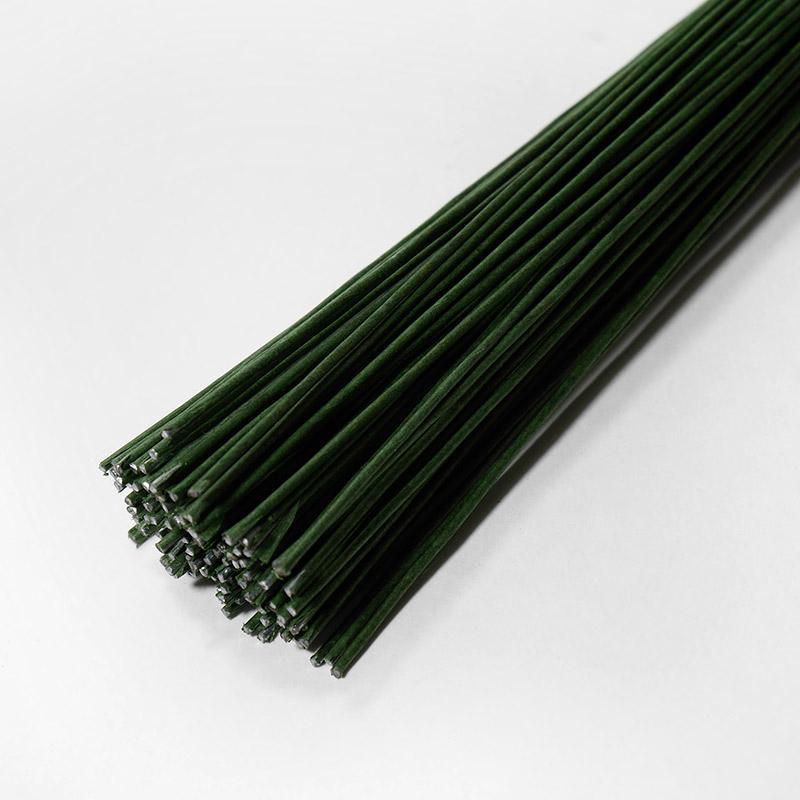 Флористическая проволока 1мм темно-зеленая