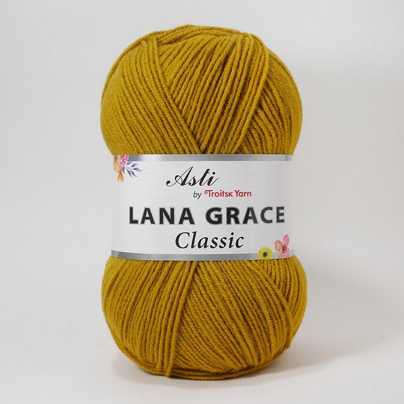 Пряжа Лана Грейс Классик 1268 -горчичный
