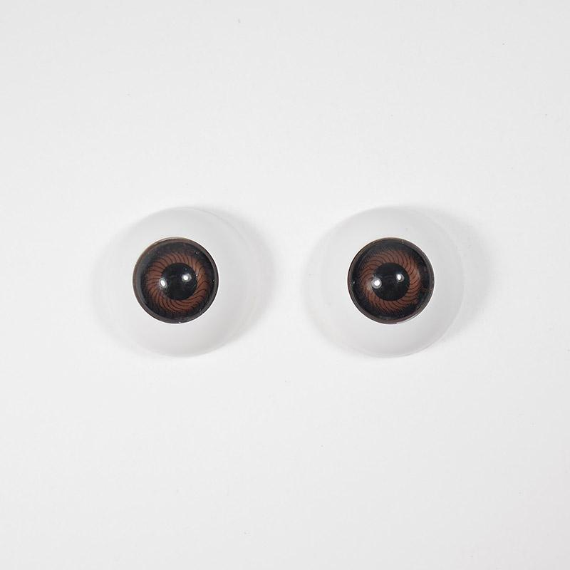 Глазки TR-20 круглые без ресниц 20мм, карие (О1)