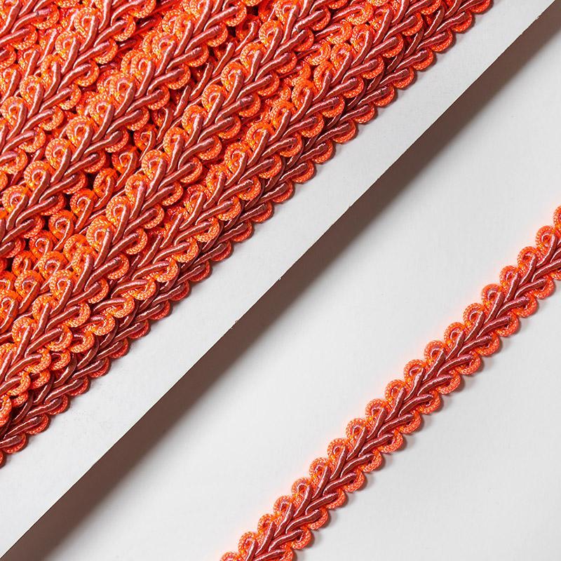 Тесьма Шанель 10мм 18.2м 052 яр.оранжевый-т.розовый