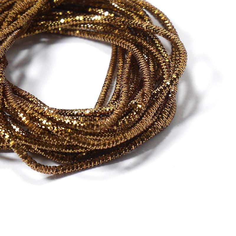Канитель 1мм 629EMB коричнево-золотой трунцал 5гр