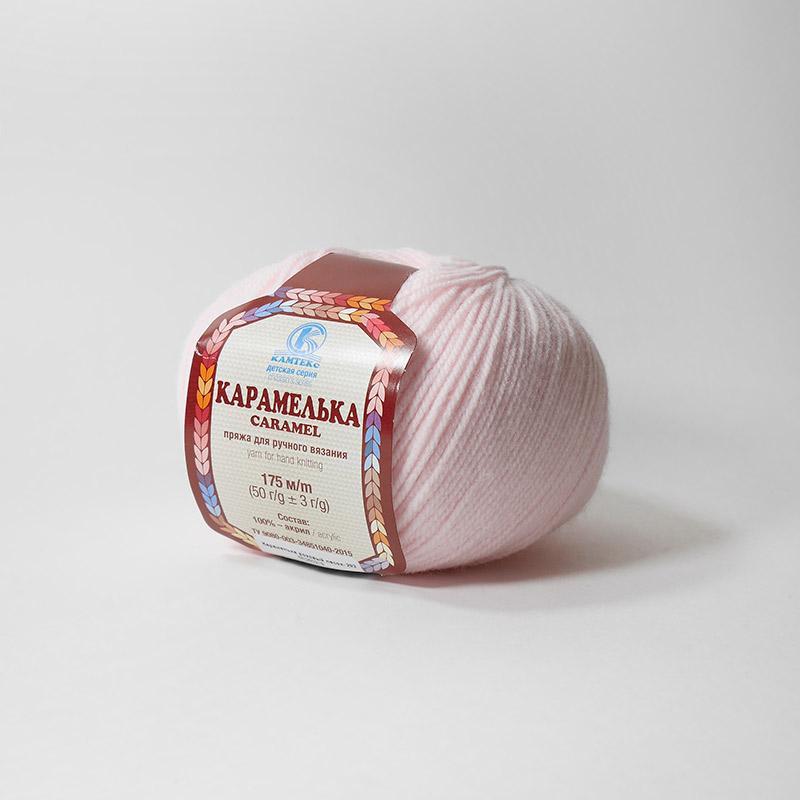 Пряжа Карамелька 293 - розовый персик