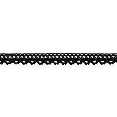 Тесьма декоративная HVK-01-113 12мм 23м, черный СК