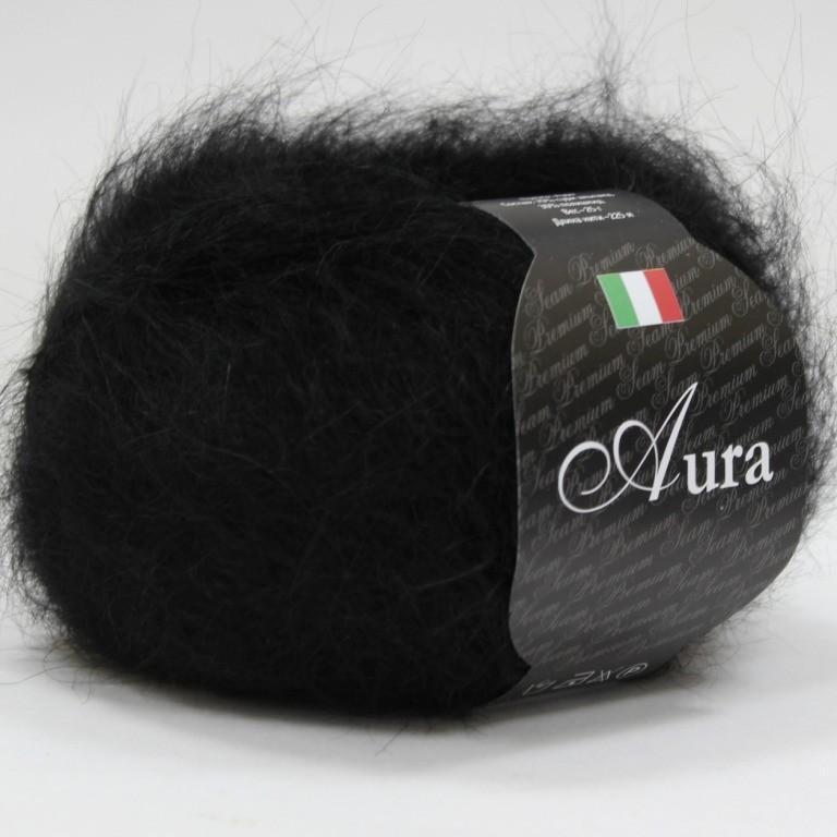 Пряжа Аура 805 - черный