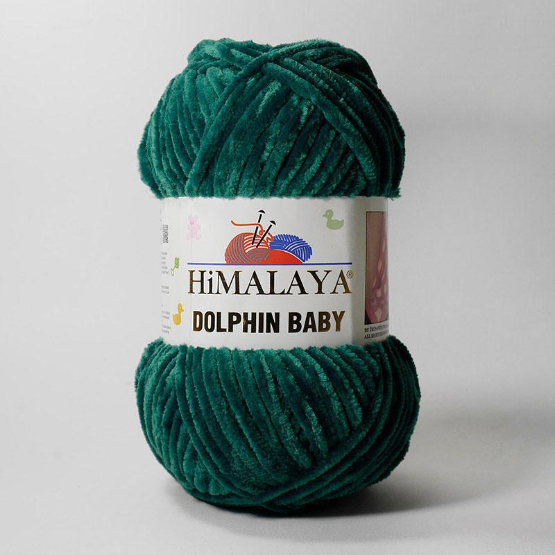Пряжа Долфин Беби 80331 - малахитовый