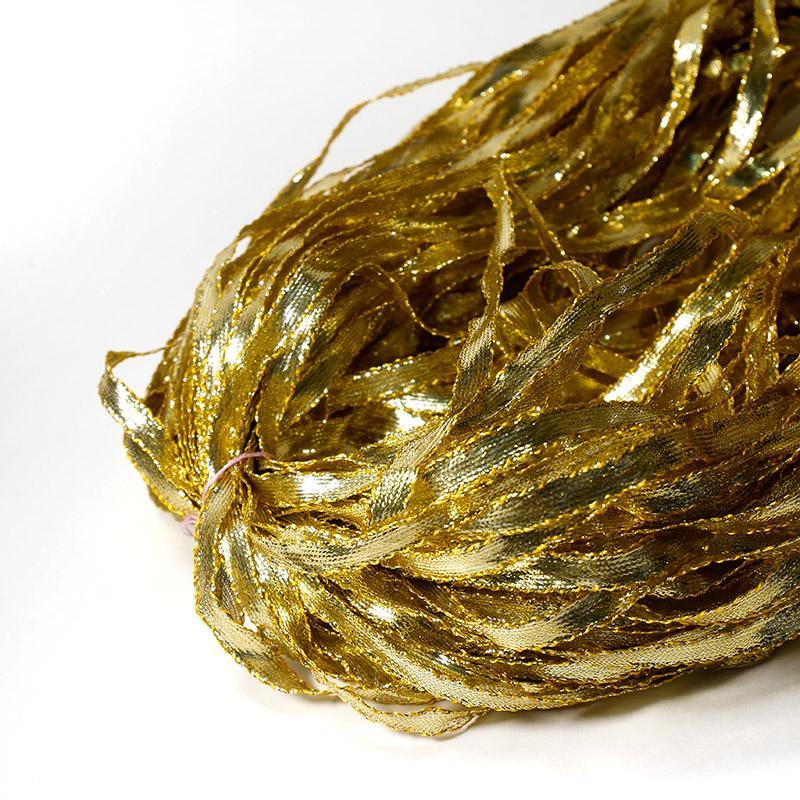 Тесьма  8мм  50м золото